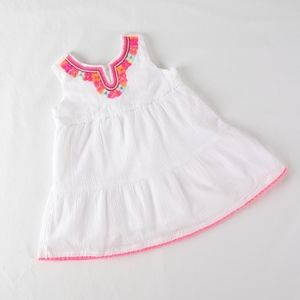 Carters Girls 18 mo White Embroidered Summer Dress